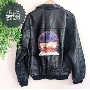 Paramount Pictures Authentic Leather Bomber Jacket